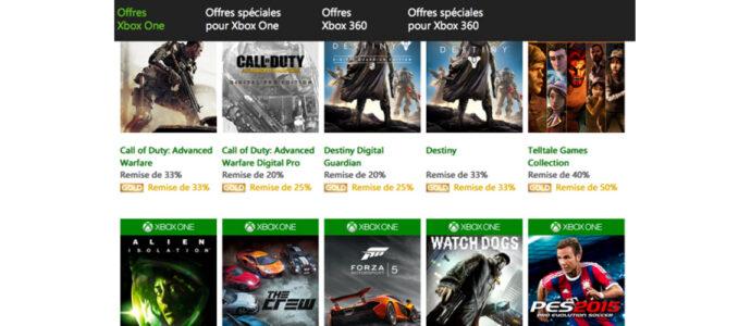 Xbox One / Xbox 360 : Semaine de soldes en dématérialisé