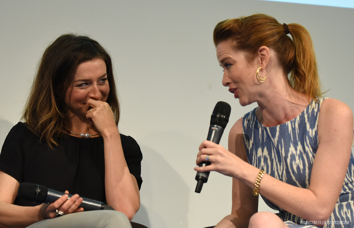 Caterina Scorsone and Sarah Drew - GreysCon