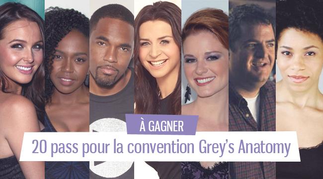 [Terminé] Concours : gagnez votre pass pour assister à la convention Grey's Anatomy de So Sweet Sensation