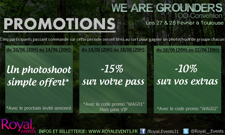 We are grounders : promos en cours !