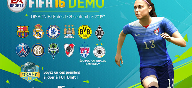 FIFA 16 : rendez-vous le 8 septembre pour la démo jouable