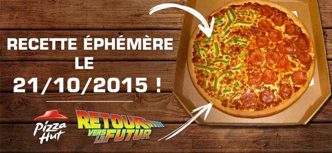 La pizza de Retour vers le Futur 2 disponible aujourd'hui chez Pizza Hut