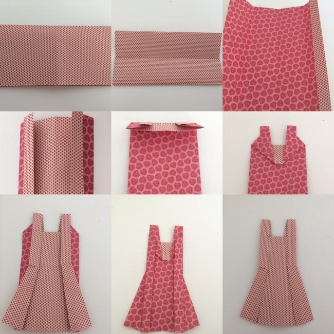 Tuto diy la guirlande de robes en origami roster con - Robe en origami ...