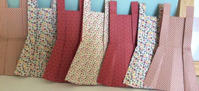TUTO DIY : La guirlande de robes en origami