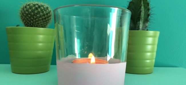 DIY : recycler une vieille bougie en bougeoir