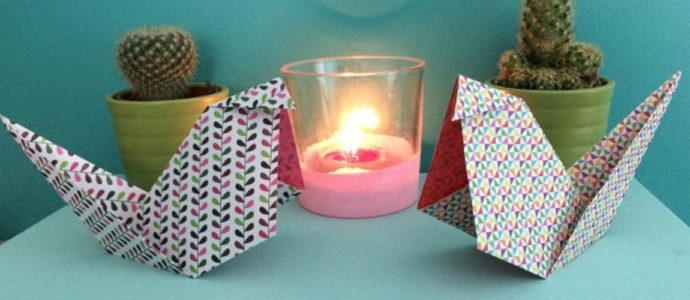 DIY : Poule en origami pour Pâques #1
