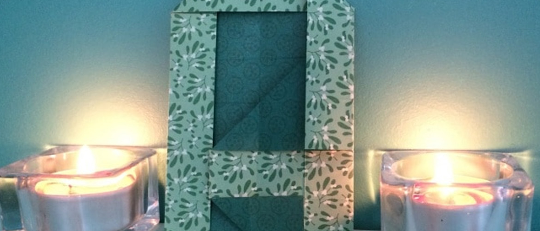 "Easter DIY : lettre ""A"" en origami"