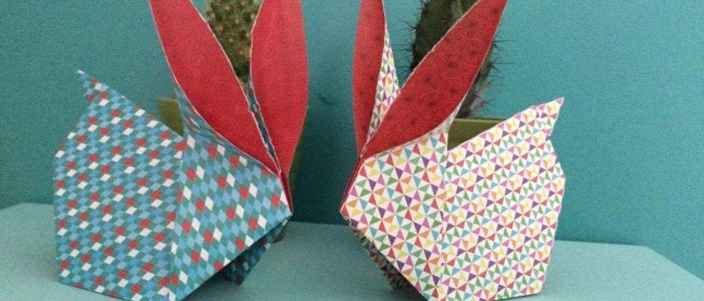 Tuto DIY : lapin de pâques en origami 🐰