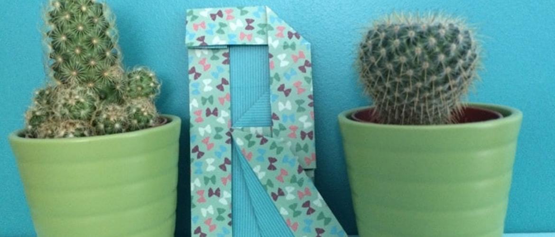 """Easter DIY : lettre """"R"""" en origami"""