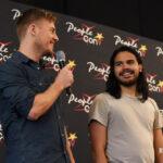 Rick Cosnett et Carlos Valdes - Panel Super Heroes Con 2 - photo : roster con / youbecom