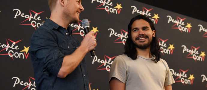 Rick Cosnett et Carlos Valdes - Panel Super Heroes Con 2 - photo : roster con / youbecom