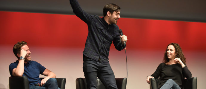 Amy Manson, Sean Maguire et Liam Garrigan - convention Fairy Tales - Photo : Roster Con / Youbecom