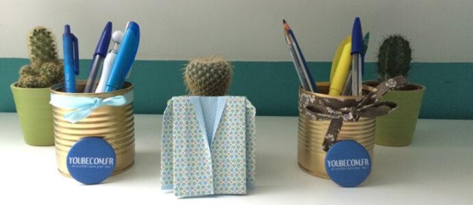Idée récup : boite de conserve porte crayon