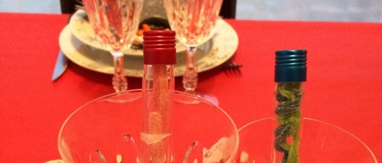 Tuto DIY : idée décoration de table pour Noël 🎉 (tubes à essai bonbons)