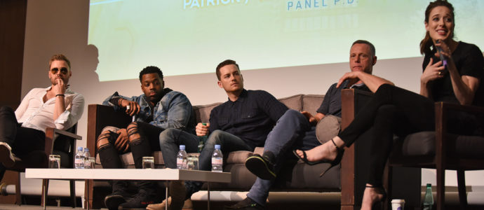 Q&A Patrick John Flueger, LaRoyce Hawkins, Jesse Lee Soffer, Jason Beghe & Marina Squerciati – Chicago PD – Don't Mess With Chicago 2