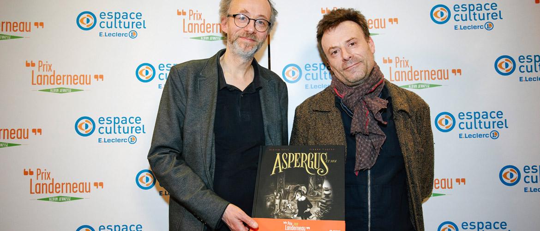 Didier Lévy et Pierre Vaquez, heureux vainqueurs du Prix Landerneau Album Jeunesse 2018