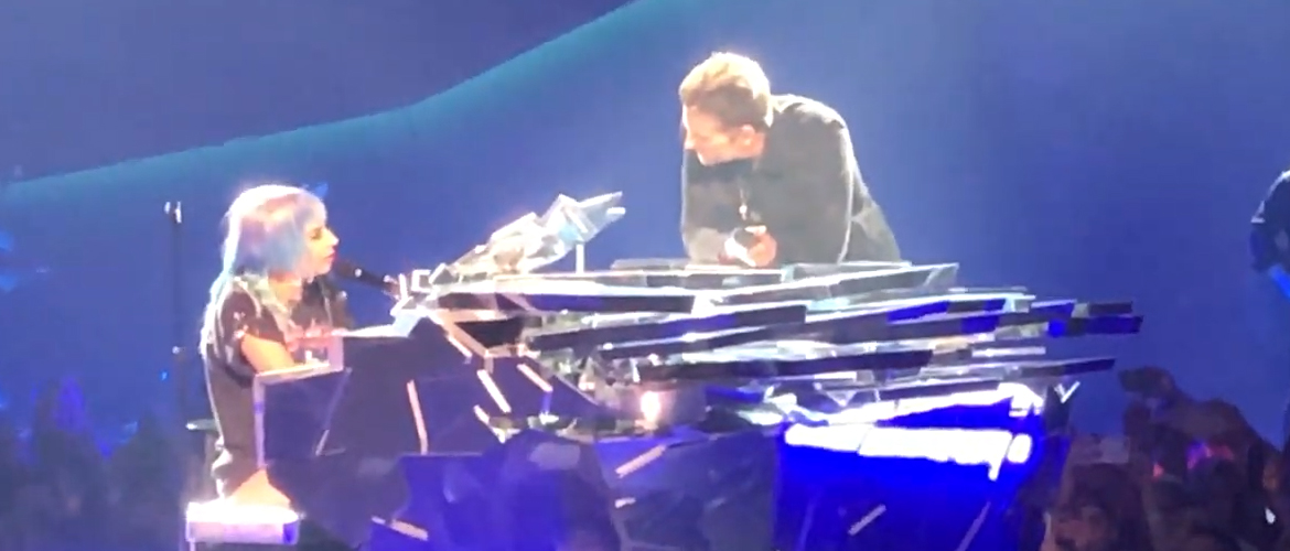 [Video] Lady Gaga joined by Bradley Cooper on stage in Las Vegas