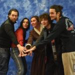 Richard Rankin, César Domboy, Romann Berrux & Sophie Skelton - The Land Con 3 - Outlander