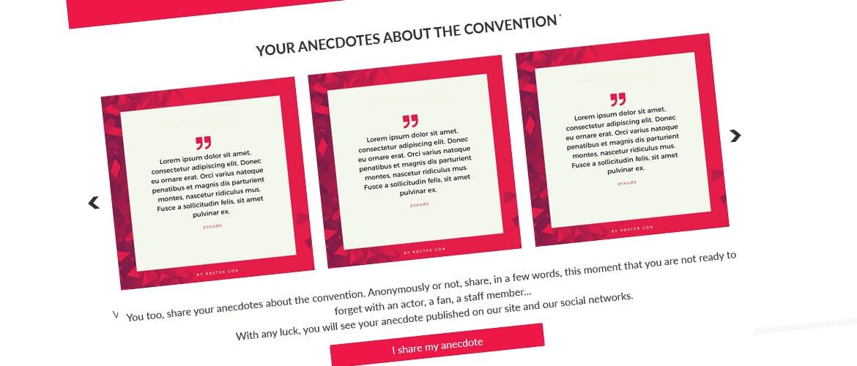 Partagez vos anecdotes de convention
