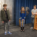 Photo High School Musical: The Musical: The Series – Episode 104: Blocking - Joshua Bassett (Ricky), Olivia Rodrigo (Nini) & Matt Cornett (EJ)