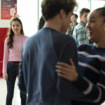 Photo High School Musical: The Musical: The Series – Episode 106: What Team? - Olivia Rodrigo (Nini), Matt Cornett (EJ), Sofia Wylie (Gina) & Joshua Bassett (Ricky)