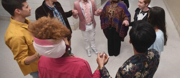 High School Musical: The Musical: The Series – Episode 109: Opening Night - Dara Renee, Matt Cornett, Joshua Bassett, Joe Serafini, Julia Lester, Larry Saperstein, Olivia Rodrigo, Frankie A. Rodriguez & Kate Reinders