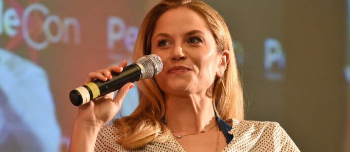 Rebels Spartacus 6: Ellen Hollman at the convention, Katrina Law cancelled