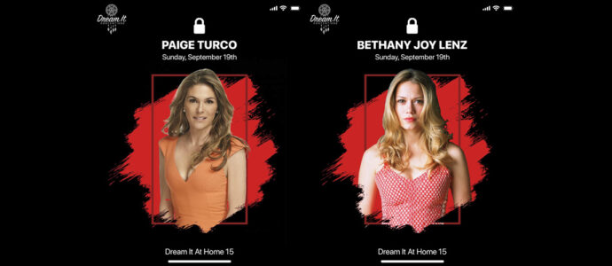 Bethany Joy Lenz (One Tree Hill) and Paige Turco (The 100) at the Dream It At Home 15 convention
