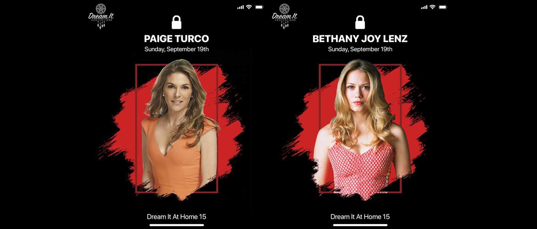 Bethany Joy Lenz (Les Frères Scott) et Paige Turco (The 100) à la convention Dream It At Home 15